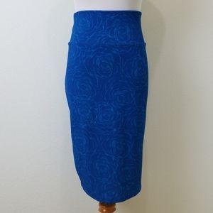 Lularoe Blue Rose Cassie 3XL Skirt